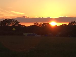 Sunset at Kingsettle Campsite